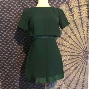 Top shop green mini dress
